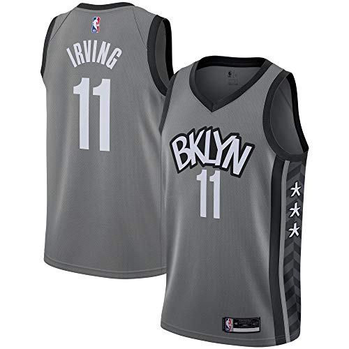 Outerstuff Kyrie Irving Brooklyn Nets #11 Gray Youth 8-20 City Edition Swingman Jersey (10-12)