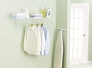 Rubbermaid 3D4800WHT FreeSlide Closet Shelf Kit, 4-Feet, White