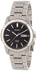 Seiko Men's SNE093 Stainless Steel Solar Watch - see full details