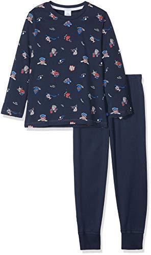 Sanetta Jungen Pyjama Long Zweiteiliger Schlafanzug, Blau (Nordic Blue 5962.0), 116