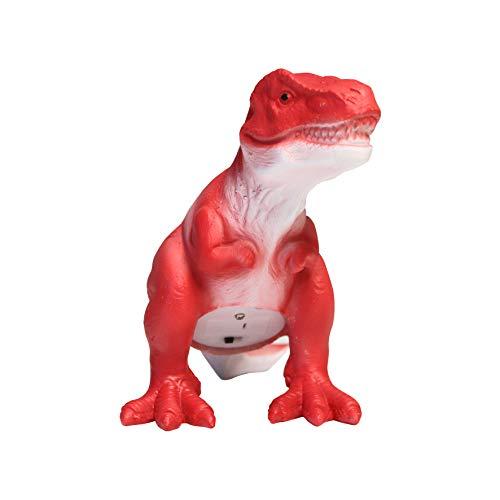 Lampe veilleuse Tyrannosaurus rex Rouge Mini LED Petit Modèle Dimensions: 12,5 x 13,5 x 8 cm