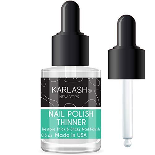 Karlash Professional Nail Polish Thinner 0.5 oz - Restore thick and sticky nail polish (1 Piece)