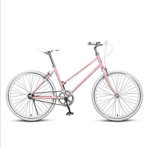 LVQING Bicicleta de viaje para mujer en la playa, cómoda y cómoda, para adultos con marco ligero de aluminio (color rosa)