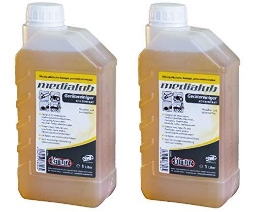 KETTLITZ 2 x 1 Liter Medialub Gerätereiniger, Agrar Reiniger, Sägekettenreiniger, Harzentferner, Harzlöser, Fettlöser, Öllöser, Motorsägen Reiniger, Motorsägenreiniger Kettensägen