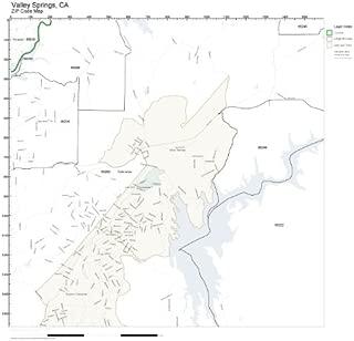 ZIP Code Wall Map of Valley Springs, CA ZIP Code Map Laminated