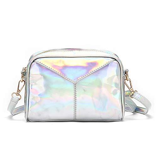 lailongp Schultertasche aus Leder, holografisch, Abend-Handtaschen, Hobo-Messenger-Tasche für Damen, Geburtstag, Valentinstagsgeschenk