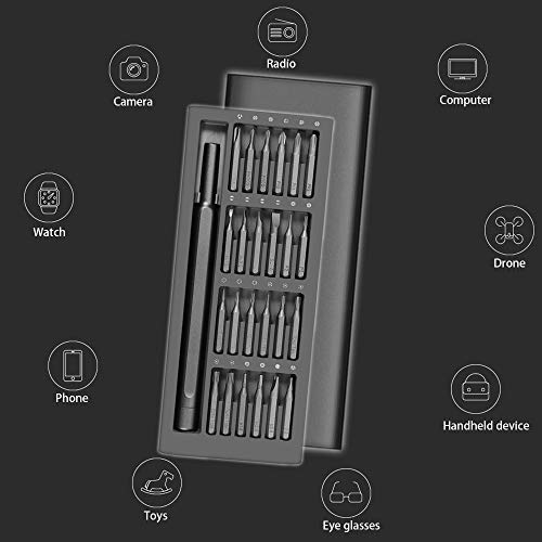 Xiaomi Wiha Precision Screwdriver Set, 24 Magnetic Driver Bit Set, Pocket Screwdriver Tool Set, Mini Screwdriver Kit, Repair Tool Kit for Electronics
