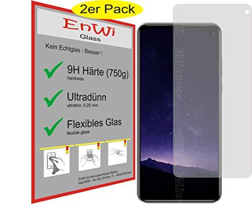 EnWi | 2X Panzer-Glas-Folie 9H Bildschirm-Schutz-Folie für Cubot Max 2