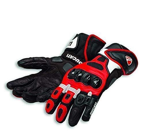 Ducati Speed Air C1 Handschuhe aus Leder rot/weiß Größe L