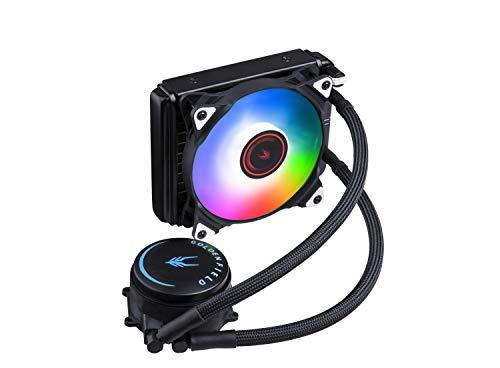 GOLDEN FIELD SF120 RGB All-in-One Liquid CPU Kühler mit 120 mm Kühler Wasserkühlung Kühlsystem für Intel AMD Sockel CPU-Kühlung