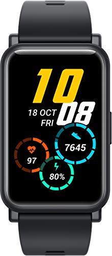 HONOR Watch ES Smartwatch (42mm AMOLED-Display, Herzfrequenzmessung, 50 m wasserdicht, SpO2) Schwarz