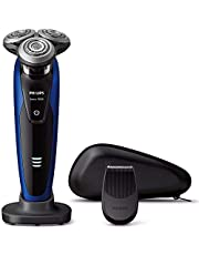 フィリップス 9000シリーズ メンズ 電気シェーバー 72枚刃 回転式 お風呂剃り & 丸洗い可 トリマー付 S9185A/12