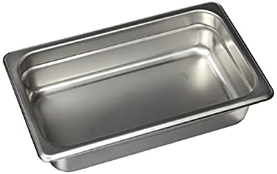 Winco SPJM-402 Anti-Jam Steam Pan, 1/4 by 2-1/2-Inch, 24-Gauge