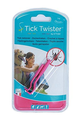 O´Tom / Tick Twister Zeckenhaken Zeckenzange Hundezeckenzange Zeckenzieher Hundezeckenzieher (pink)