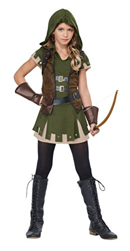 California Costumes Miss Robin Hood, Olive/Brown, Large