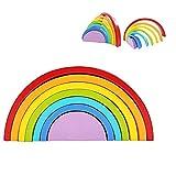 SLONG Color de Madera ordenar Rainbow Blocks apilador Puzzle Arch Bridge Blocks Juguetes educativos