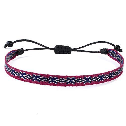 C·QUAN CHI Bracelet Tissé Tressé pour Femmes Bracelet Brin D'amitié Bracelets Tressés à La Main Colorés pour Cordon De Cheville De Poignet Cadeaux d'anniversaire Réglables