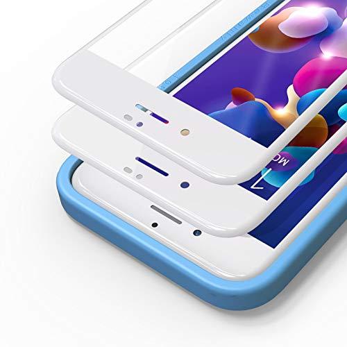 Bewahly Panzerglas Schutzfolie für iPhone 8 Plus / 7 Plus [2 Stück], 3D Full Screen Panzerglasfolie 9H Displayschutzfolie mit Installation Werkzeug für iPhone 8 Plus / 7 Plus (5,5 Zoll) - weiß