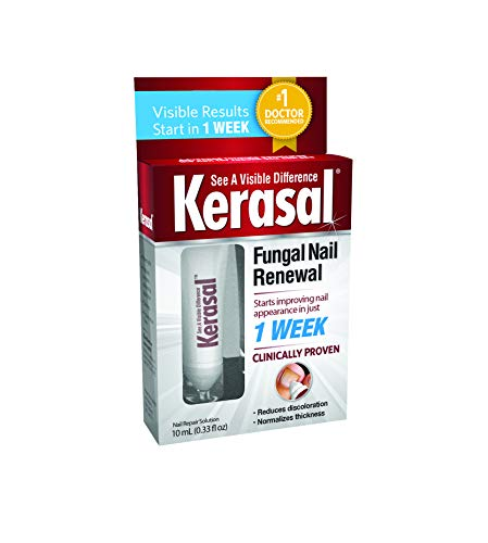 Kerasal Fungal Nail Renewal Treatment 10ml, Restores the healthy appearance of nails discolored or damaged by nail fungus or psoriasis.