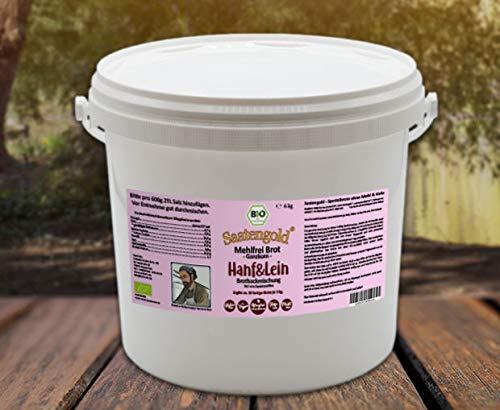 Saatengold 'Mehlfreibrot' -Ganzkorn- Brotbackmischung | Bio, ohne Mehl, Hefe etc. | Rezeptur: Bäckermeister Hermann Stein | (Hafer & Lein 6kg)