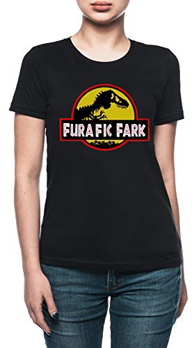 Vendax Furafic Fark Camiseta Mujer Negro