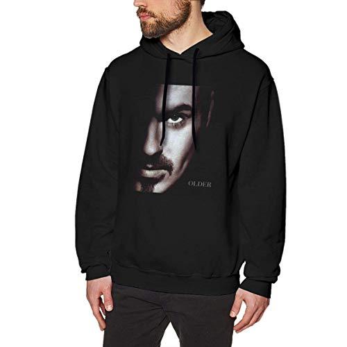 AKKUI Hooded Sweat Herren Kapuzenpullover Linqarcon Mens Print Design George Michael Older Winter Long Sleeve Hoodies