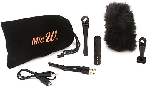 MicW I2185 Mini Shotgun Microphone Kit - for GoPro DSLR Cameras
