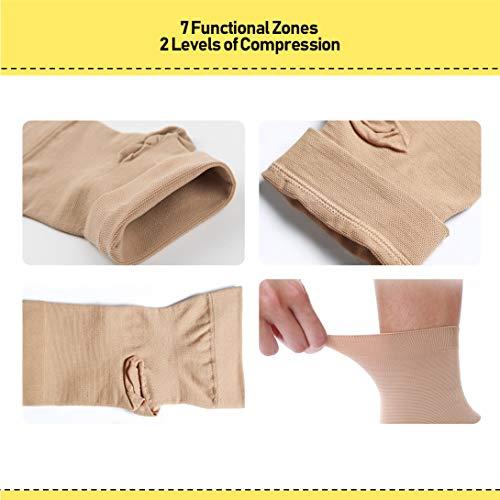 UONNER Sprunggelenk Bandage, Knöchelbandage, Fußbandage für Damen Herren Kompressionssocken Compression Socks Laufsocken für Sport Fitness - 5