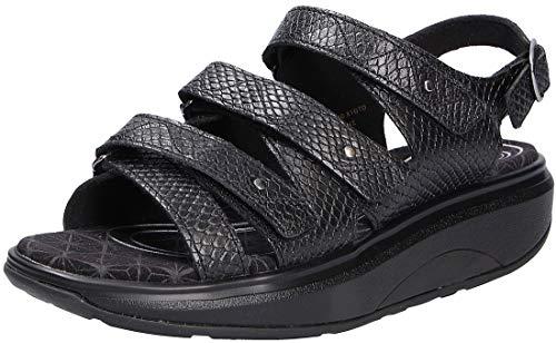 Joya Damen Sandale ID Kyoto Black Snake (39 2/3)