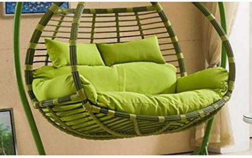 Thick Hanging Egg Hammock Chair Cushions,Thicken 2 Persons Seater Swing Seat Cushion Zipper Washable Chair Pads