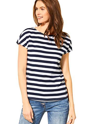 Cecil Damen 314871 T-Shirt, deep Blue, Large
