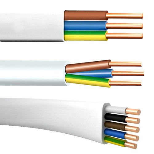 Flach Feuchtraumkabel Leitung Installationsleitung YDY NYM-J 3x1,5 (10m) 0,83€/m