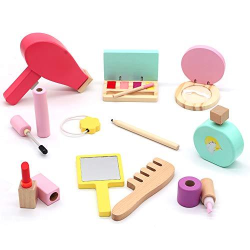Makeup Kinder Schminkset Schminksachen Schönheit Holzspielzeug Prinzessi Kosmetikset Mädchen Kinder Rollenspiel Spielzeug Geschenk ab 3 4 5 Jahre