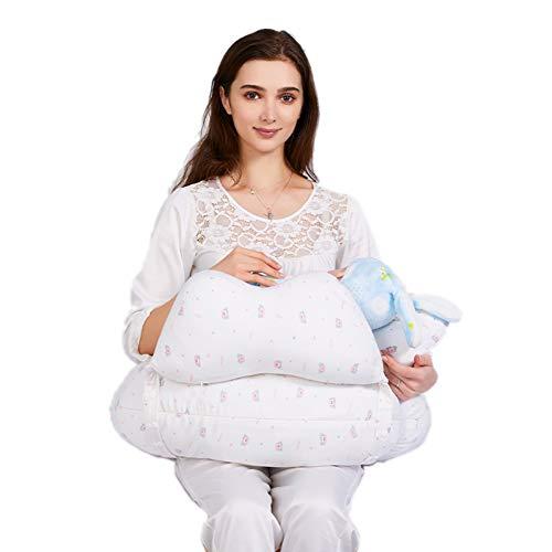 Baby GOUO@ Coussin d'allaitement et positionneur, Oreiller d'allaitement pour bébé Maternité Coussin de Taille énorme Lit Paresseux Maintien sur Le côté allongé Support pour soulager la Fatigue