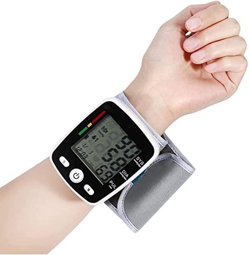 Handgelenk-Blutdruckmessgerät, Blutdruckmessgerät, mit großer LCD-Anzeige Messen Sie den Blutdruck und die Herzfrequenz für den Heimgebrauch