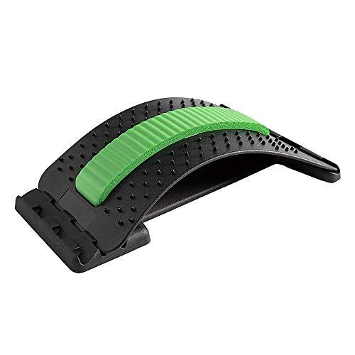 HOOMAGIC Rückenstrecker Rückendehner Verstellbarer Rückenmassage Unterstützung Rückendehner zur Haltungskorrektur, Rücken Schmerzlinderung