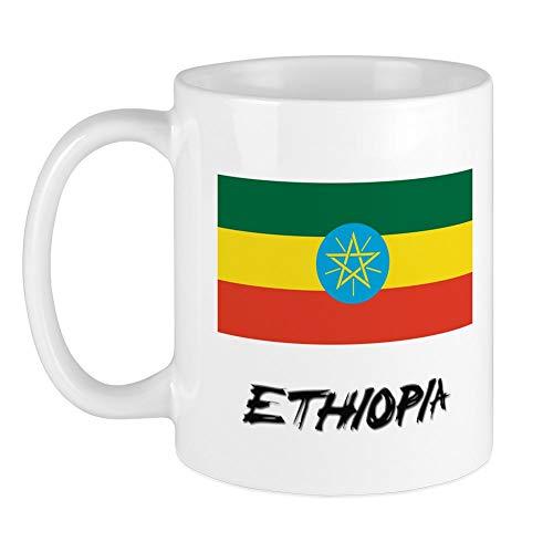 CafePress - Tasse mit Flagge Äthiopiens - Einzigartige Kaffeetasse, Kaffeetasse, Teetasse