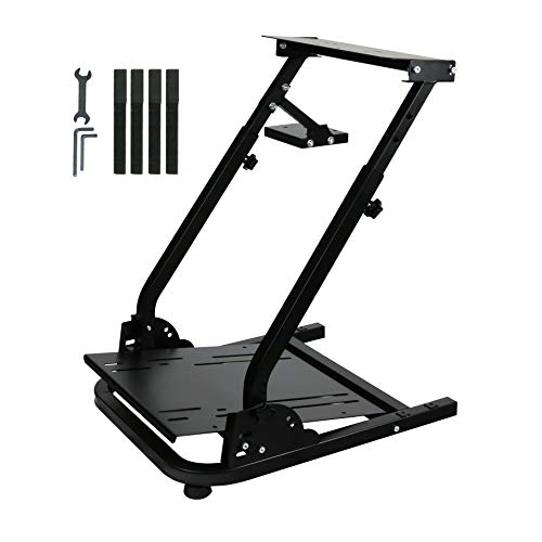 Racing Steering Wheel Stand Gaming Racing Simulator Compatible with Logitech G25, G27, G29,G920 Wheels and Thrustmaster T300RS and T500RS Wheel & Pedals Not Included