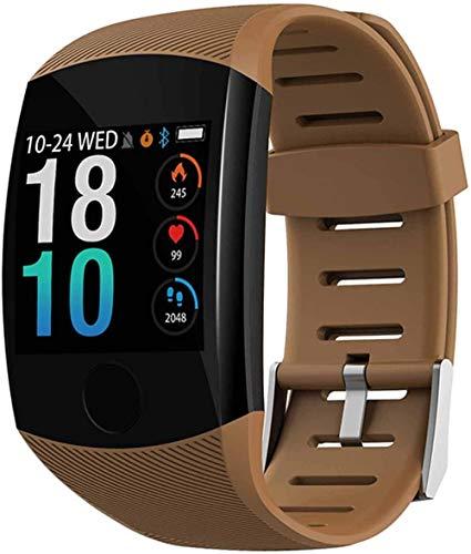 2021 Nuevo reloj inteligente impermeable Fitness pulsera grande pantalla táctil mensaje recordatorio corazón ritmo ritmo actividad pulsera pulsera de latón
