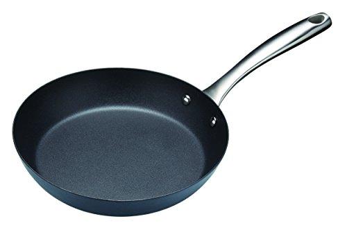 Kitchen Craft Induktionstaugliche Master Class Professional Carbonstahl-Antihaft-Bratpfanne, Stahl, Schwarz, 24 cm