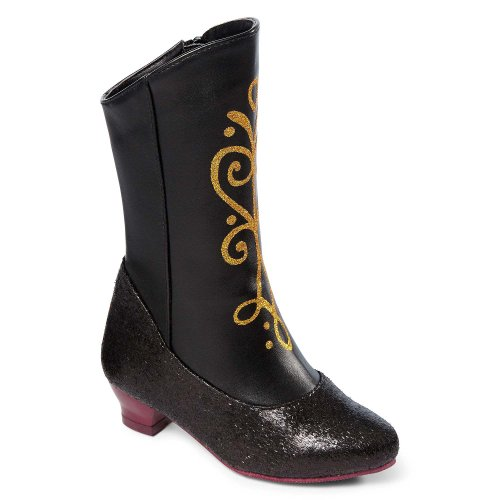 Disney Frozen Princess Anna Black and Gold Costume Boots (13/1)