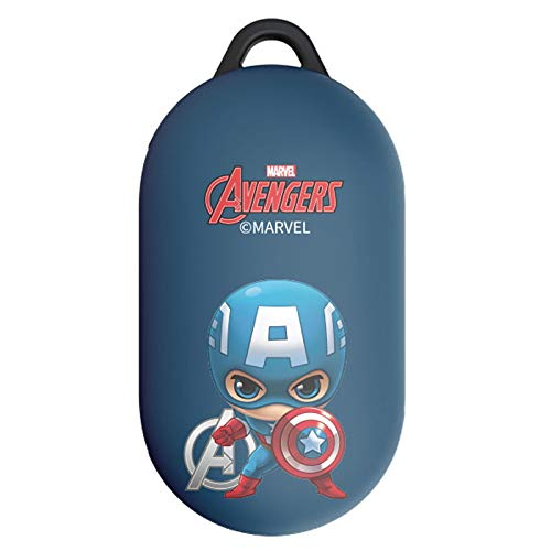Cutie Hero Case Cover with Avengers Character for Samsung Galaxy Buds/Buds+ Plus (Captain America)