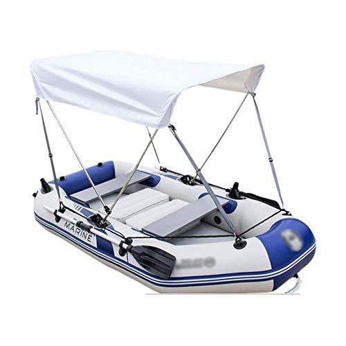 BZLLW Kayak Inflable, la Persona 2-3 Plegable Kayak Inflable Conjunto con el Barco Inflable, Aluminio remos y pie Peso luz de Bombeo Pesca en Kayak Blue-Pescador y Recreativo (Color : with Awning)
