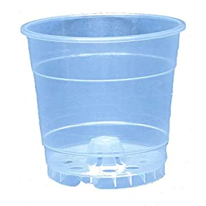 Clear Plastic Pot for Orchids 4 1/2 inch Diameter