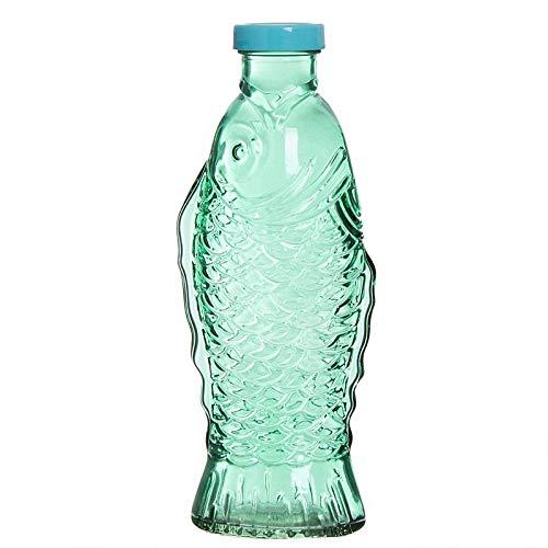 Home Gadgets glazen fles, 26 cm, vis