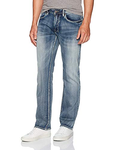 Buffalo David Bitton Men's Straight Six Jeans, Acid and Destroyed, 29W x 30L
