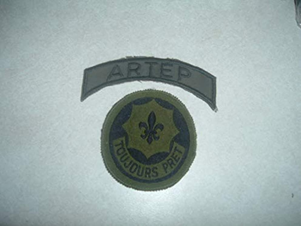Patch Military US Army Set Toujours PRET 2ND ACR with ARTEP TAB German Made Old