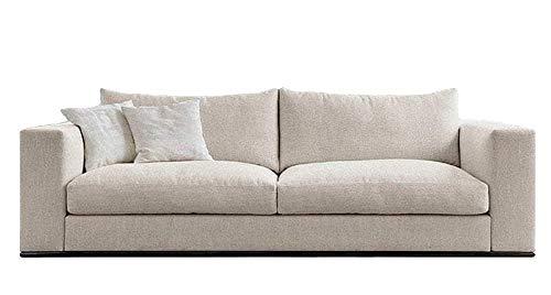 MebLiebe Laura Sofa | L232 x B90 x H80 cm | mit Schlaffunktion | abnehmbare Bezüge der Kissen und des Sitzes | eingebaute große Bettbox