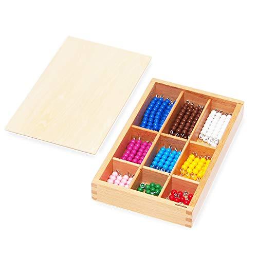 【MONTE Kids】モンテッソーリ教具 -- 色ビーズ箱入り -- Montessori 知育玩具教具 幼児早期教育 モンテキ...