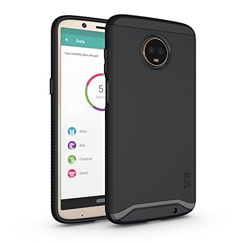 TUDIA Motorola Moto Z3 Play Hülle, Moto Z3 Hülle, Slim-Fit Merge Dual Layer Schutzhülle für Motorola Moto Z3 Play (Matte Black)